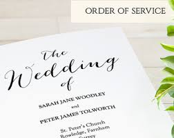 folded wedding program template printable folded order of service wedding program byron