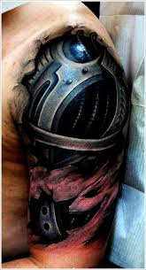 biomechanical tribal 3d tattoo style for boys photo 3 photo