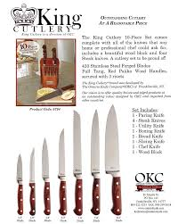 ontario kitchen knives ontario knife co kitchen knife set king cutlery at