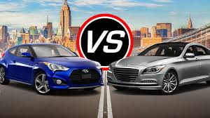 nissan veloster turbo 2016 hyundai veloster turbo vs genesis v8 spec comparison youtube