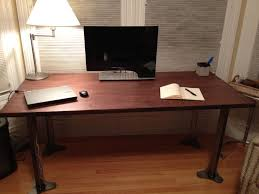 Wood Desk Ideas Metal And Wood Table 12 Steps With Pictures
