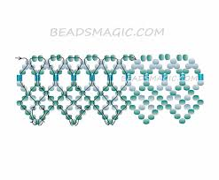 tutorial beading necklace images Free pattern for necklace mint beads magic jpg