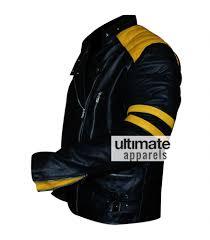 mens black leather motorcycle jacket men u0027s black biker leather jacket with yellow stripes