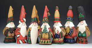heirloom quality hand carved santa art works for the selective