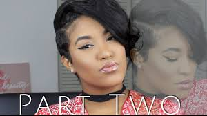 partial sew in weave for short hair youtube