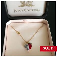 necklace diamond ebay images Juicy couture jewelry sold on ebay apple necklace poshmark jpg