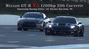 nissan gtr vs corvette z06 nissan gt r vs 1200hp z06 corvette roll race