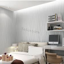 Home Decor Au Irregular Stripe Flannel Solid Color Nonwoven Colth Roll Wallpaper