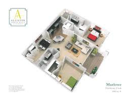 One Bedroom Floor Plans For Apartments by Choosing The Right Apartment Floor Plan Allister North Hills Blog