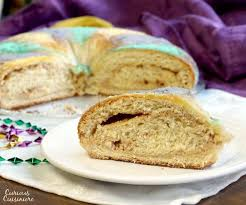 mardi gras cake baby traditional mardi gras king cake sundaysupper curious cuisiniere