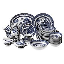 johnson brothers willow blue 45 dinnerware set bed bath