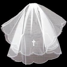 holy communion veils holy communion white veil with pearl cross