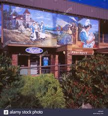 painted wall murals chemainus chemainus vancouver island bc british columbia canada wall mural painting