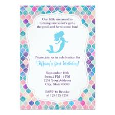 birthday announcements mermaid invitations announcements on mermaid