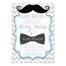 mustache baby shower invitations oh boy mustache baby shower invitations chevron zazzle