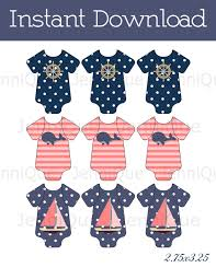 printable baby shower favor tags nautical theme baby shower