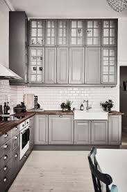 kitchen backsplash for grey cabinets pale grey kitchen units