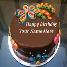 write your name on chocolate birthday cake for girls