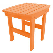 Orange Side Table Shop Durawood Adirondack Side Tables On Sale