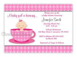Baby Welcome Invitation Cards Templates Little Baby Tea Cup Baby Shower Invitation Digital File