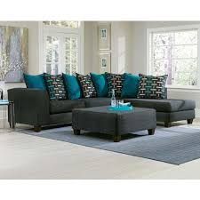 Black Sectional Sofas Black Two Toned Blue Pillows Watson Big 2 Pc Sectional