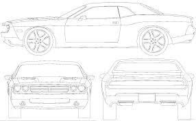 Dodge Challenger Drawing - the blueprints com blueprints u003e cars u003e dodge u003e dodge challenger