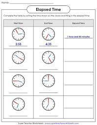 elapsed time worksheets pinterest elapsed time