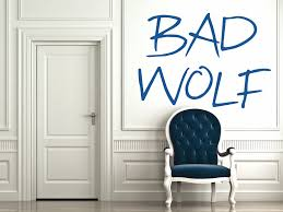 dr who bad wolf wall decal by geekerymade on deviantart dr who bad wolf wall decal by geekerymade
