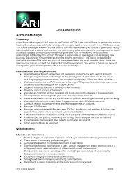 good resume for accounts manager job responsibilities duties account manager job description key account manager job