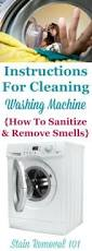cleaning washing machine to sanitize it and remove smells