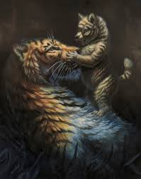 wolf cub and tiger by hibbary on deviantart