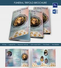 5 funeral trifold brochure templates word psd format download