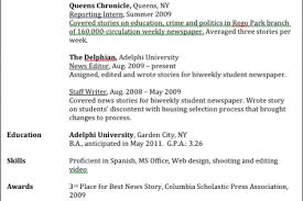 Journalism Resume Examples by How To Put Internship Experience On Resume Major Education