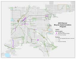 Denver Co Map Denver Moves Bicycles Annual Report