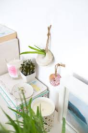 diy these modcloth inspired shell hanging planters in minutes