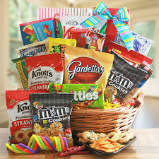 snack basket mega munchies snack basket all about gifts baskets