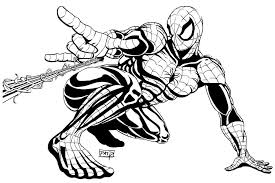 clipart spider man pencil color clipart spider man