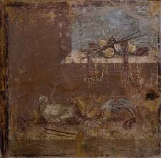 interpretive resource the art institute of chicago fragment of a painted wall mid 1st century a d roman plaster and pigment 48 5 x 48 x 8 cm 19 1 8 x 18 7 8 x 3 1 8 in lent by the field museum of