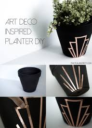 diy art deco inspired planter practical and pretty