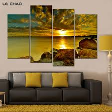 popular water drop ink buy cheap water drop ink lots from china home decor canvas painting sea sunset decorative wall pictures posters and prints modular wall paintings art drop shipping