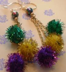 mardi gras earrings mardi gras earrings jewelrybydebby on artfire