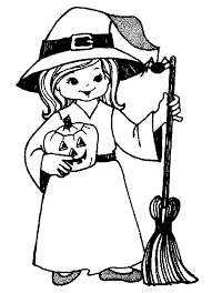 wonderful witch halloween coloring pages for kids free printable