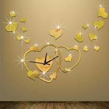 Heart Home Decor Sale Heart Wall Clock Fashion Modern Design Romantic Reloj