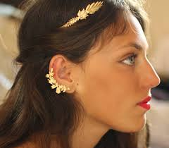 ear cuff nor ear cuff flower earrings gold floral ear cuff nature