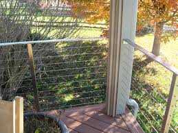 fencing lowes railing deck cable railing feeney cable rail