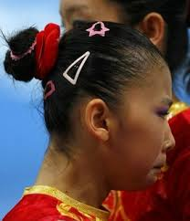 gymnastics picture hair style in pictures bad gymnastics hair huffpost