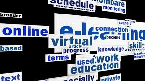E learning word clouds message  Online learning new educationsl technology design   HD stock Shutterstock