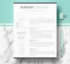 modern resume template resume templates hired design studio
