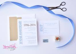 sample corporate anniversary party invitation blue and gold