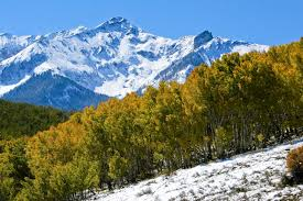 Colorado scenery images Aspens and sharp peaks are found in quintessential rocky mountain jpg